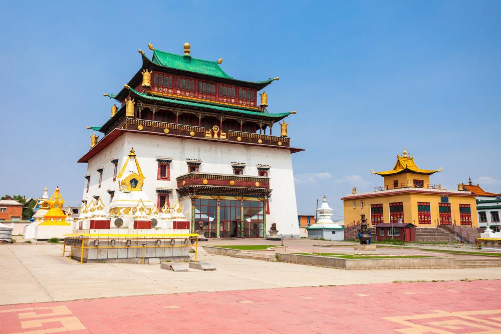 Mosteiro Gandantegchinlen, no leste asiático.