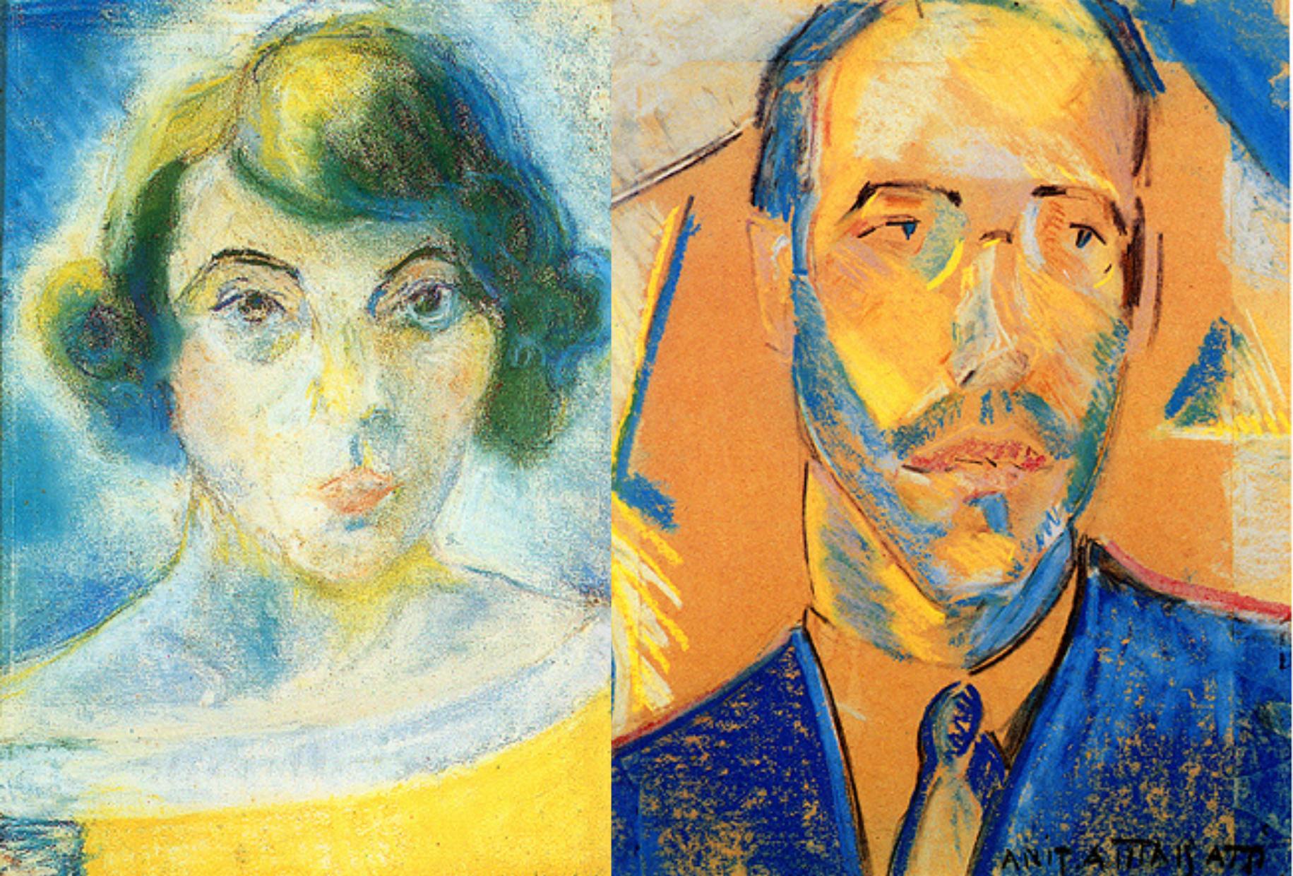 Autorretrato e Retrato de Mário de Andrade, respectivamente.