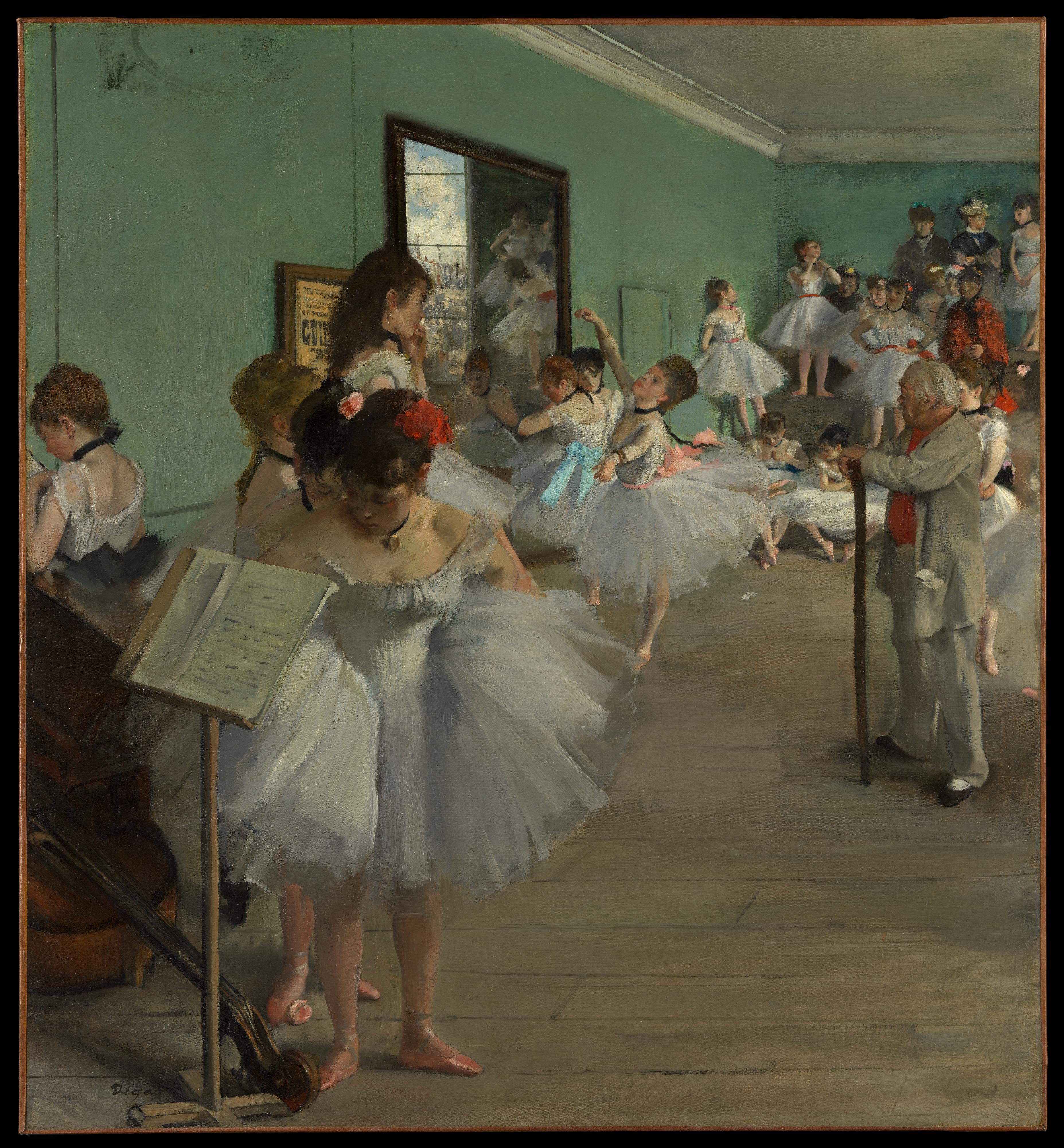 """Quadro de Edgar Degas, """"La classe de danse""""."""