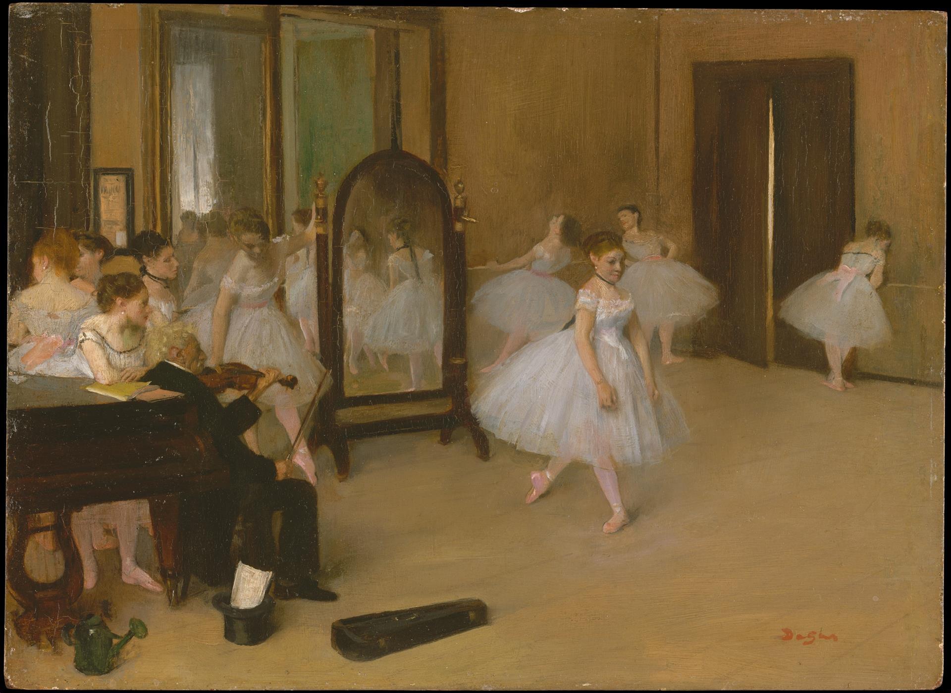 """Edgar Degas mostra a relação entre a música clássica, como a de Tchaikovski, e o ballet em 'The Dancing Class""""."""