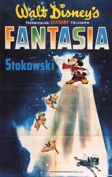Fantasia é o primeiro longa-metragem com Mickey, símbolo da Disney.