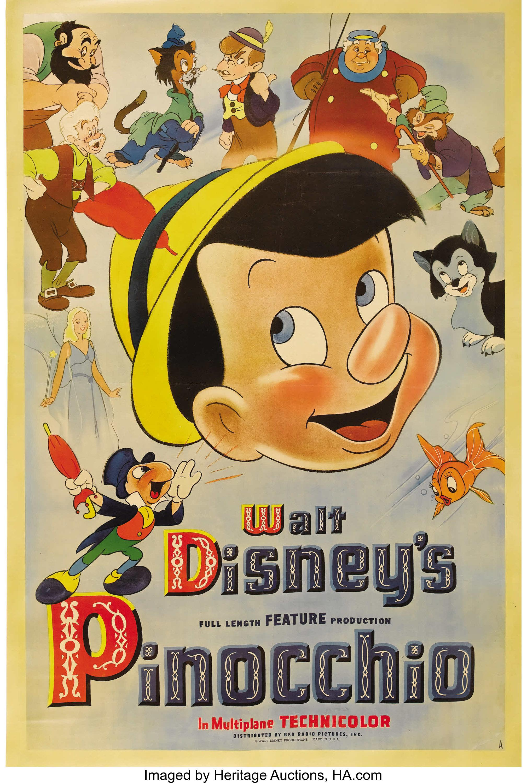 Cartaz promocional de Pinóquio.