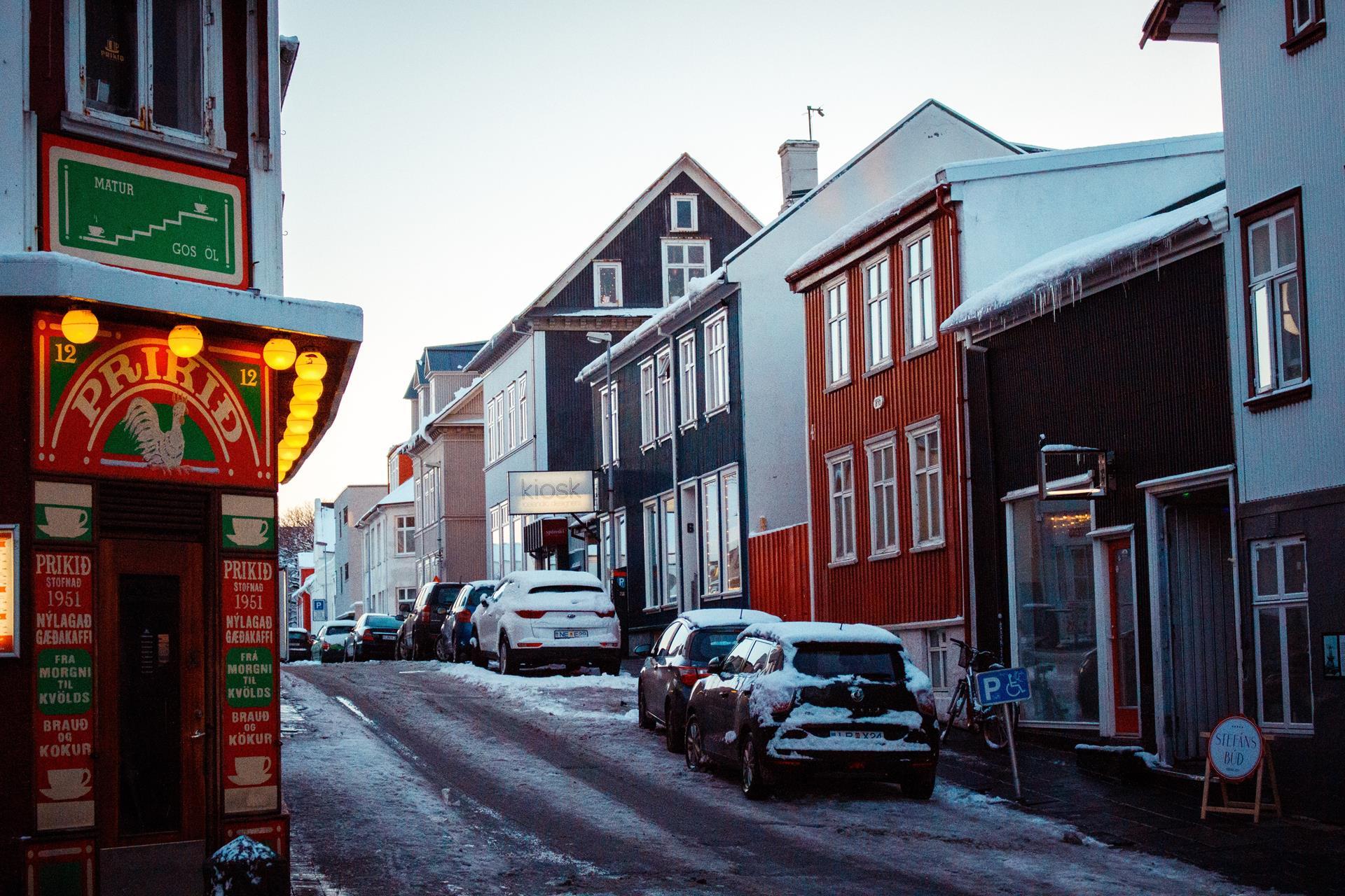 Reykjavík, capital da Islândia.