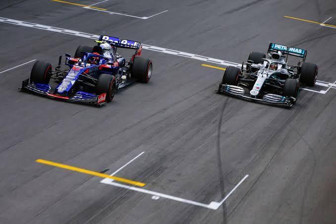 A emocionante chegada no GP do Brasil de 2019.