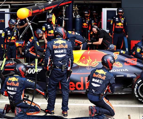 O pit stop da Red Bull.