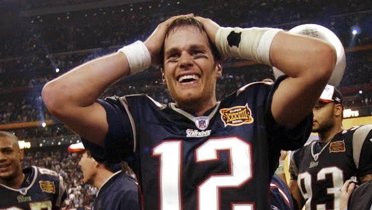 Tom Brady, em seu primeiro Super Bowl.