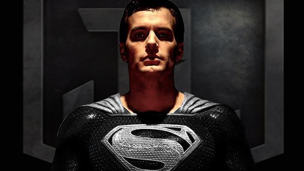 black costume superman