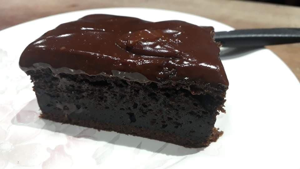 bolo de chocolate na quarentena