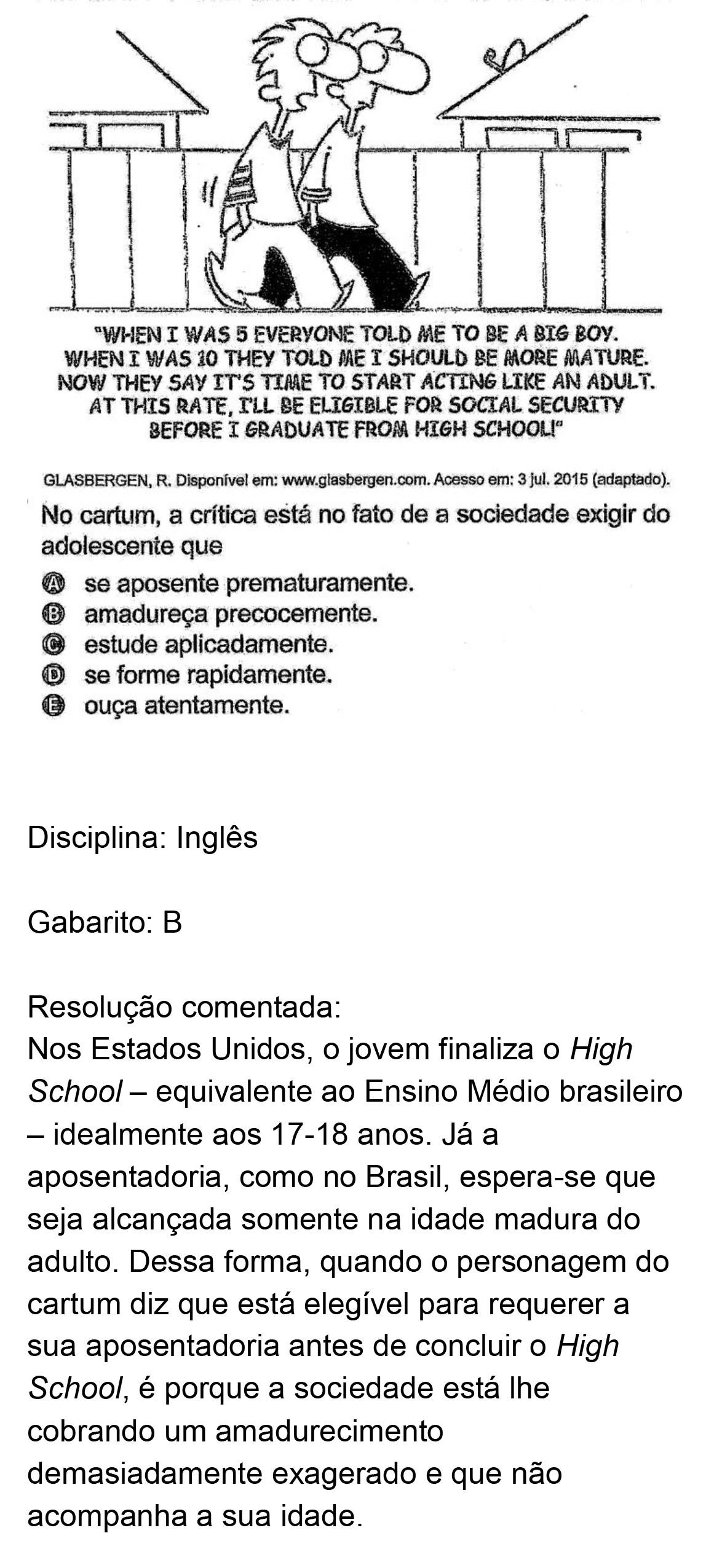 Resolução da questão 02I: Prova Rosa do ENEM 2018.