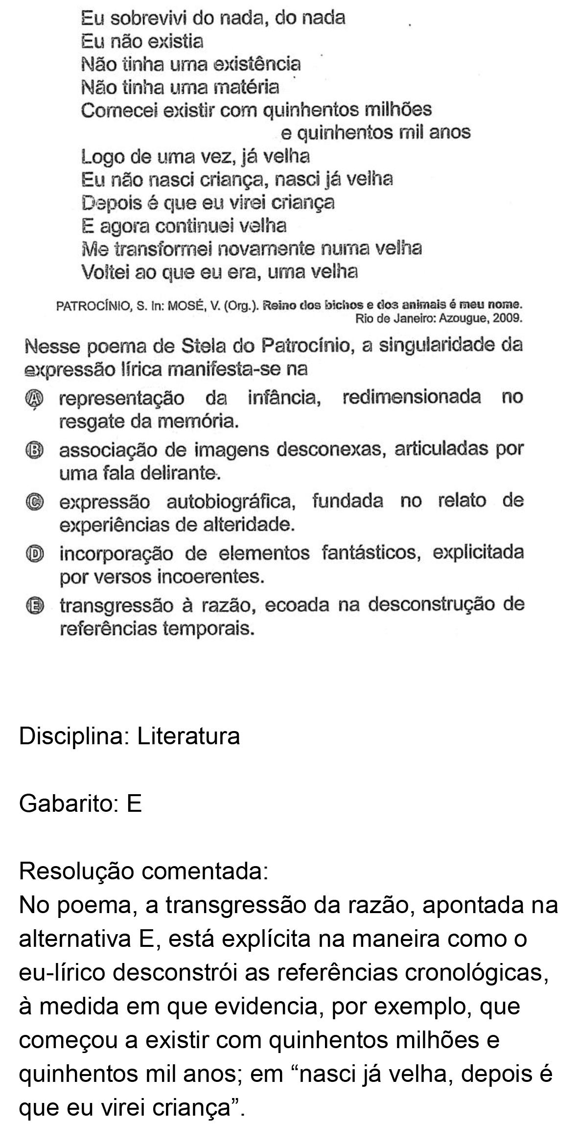 Resolução da questão 44: Prova Rosa do ENEM 2018.