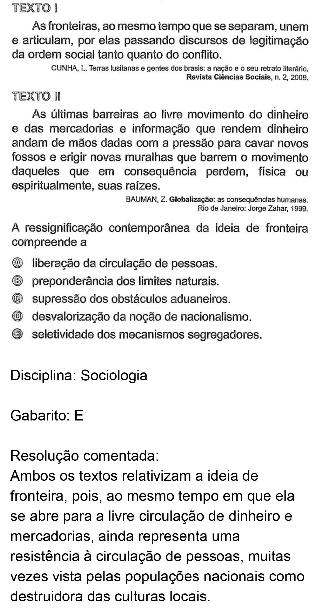 Resolução da questão 59: Prova Rosa do ENEM 2018.