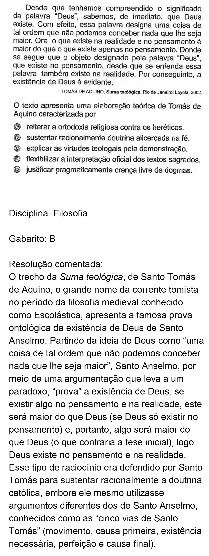Resolução da questão 84: Prova Rosa do ENEM 2018.