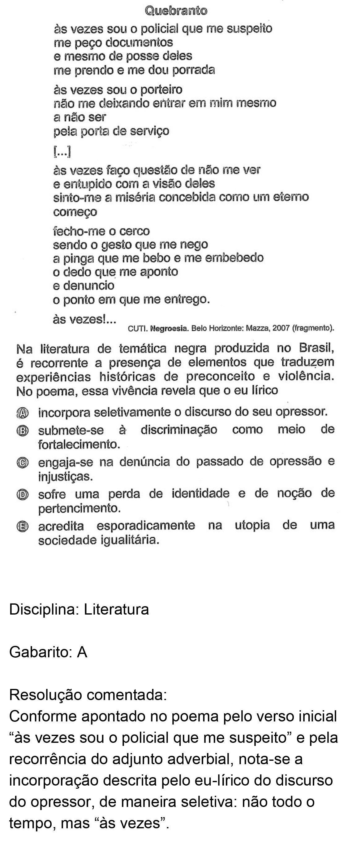 Resolução da questão 34: Prova Amarela do ENEM 2018.