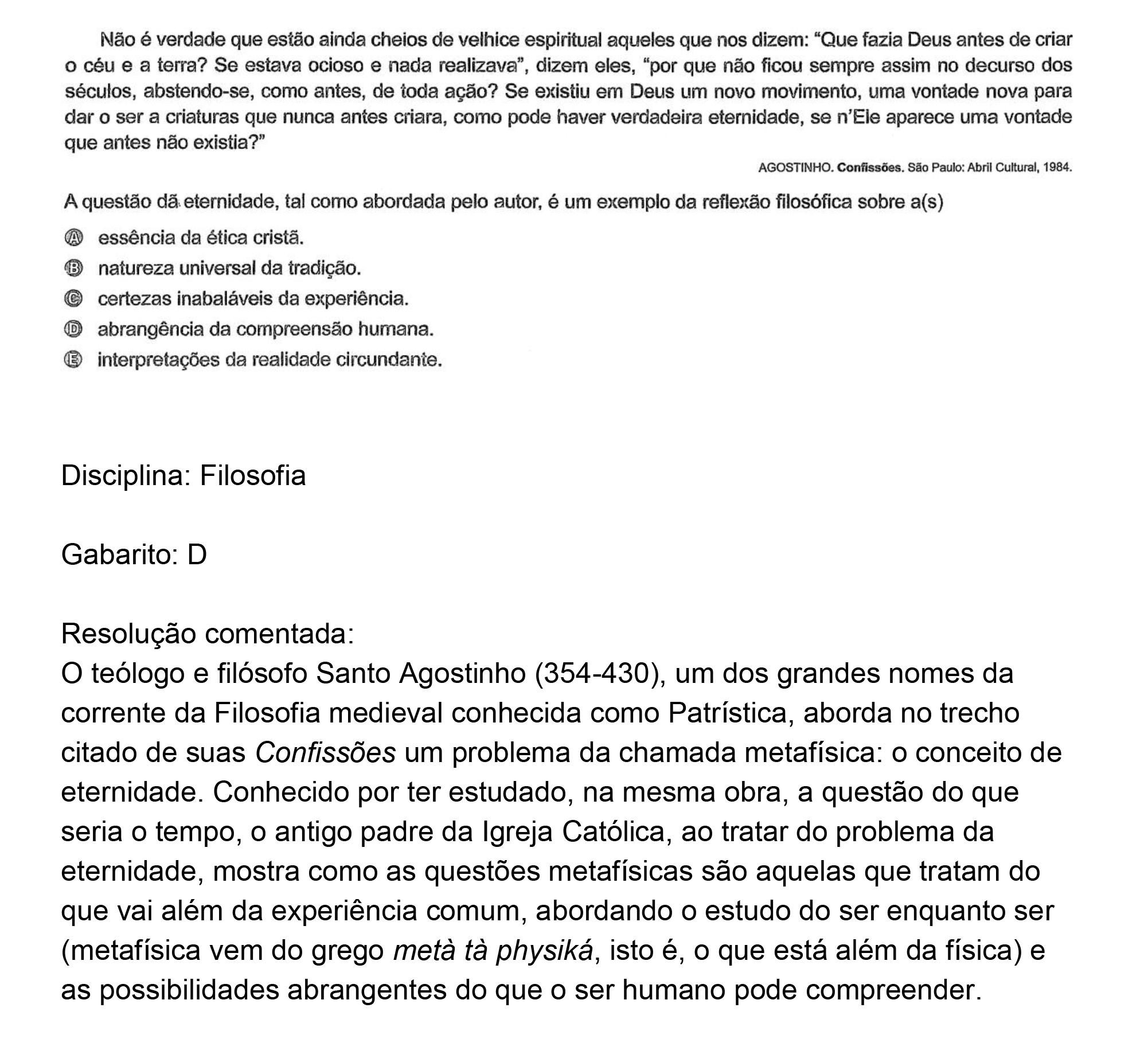 Resolução da questão 54: Prova Rosa do ENEM 2018.