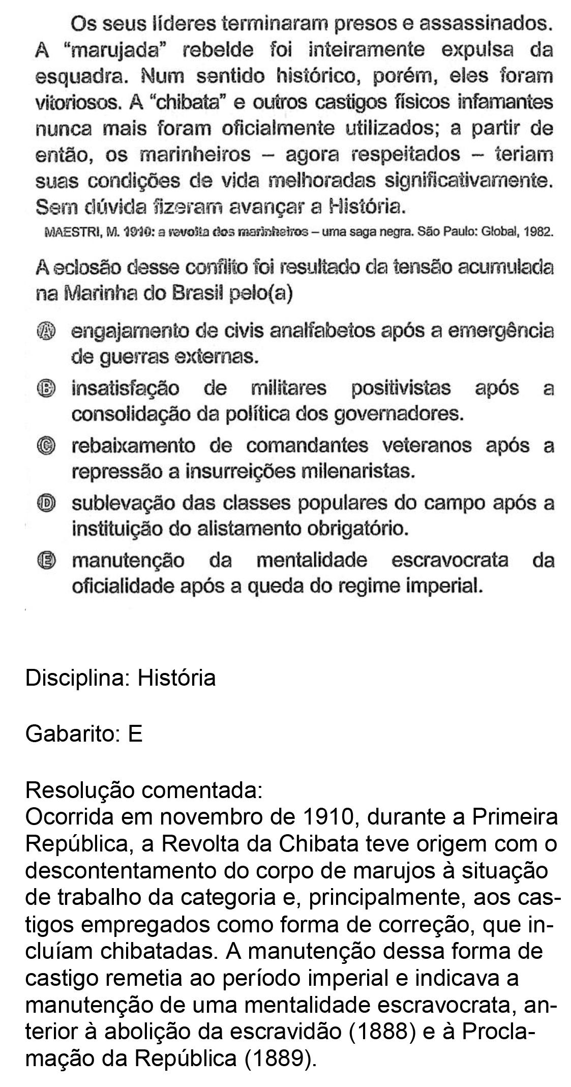Resolução da questão 86: Prova Amarela do ENEM 2018.