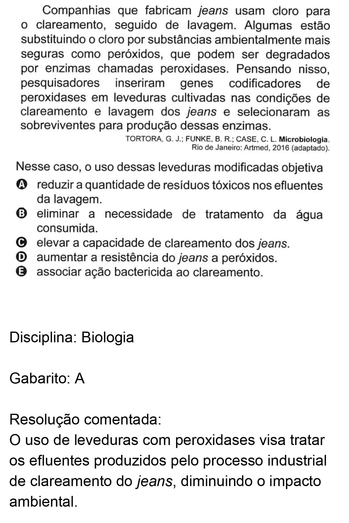 Resolução da questão 113: Prova Azul do ENEM 2018.