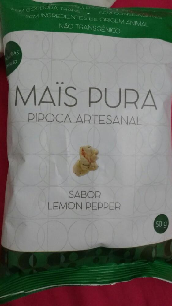 Artesanato Pernambuco ~ Pipoca Artesanal sabor Lemon Pepper Mais Pura Desrotulando