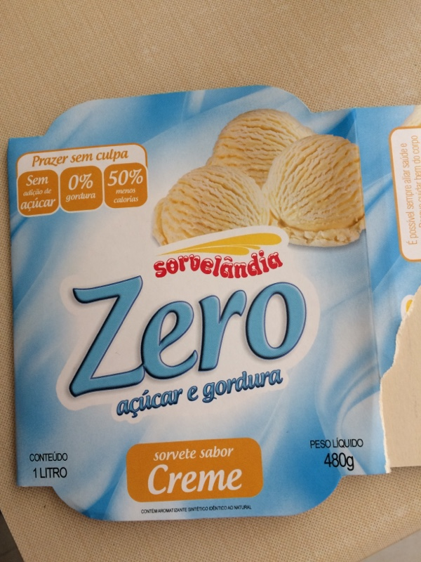 bfd022c48 Sorvete Sabor Creme Zero Açúcar e Gordura Sorvelândia - Desrotulando