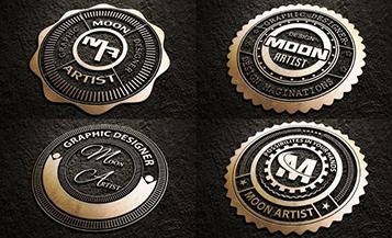 criar logo badgets