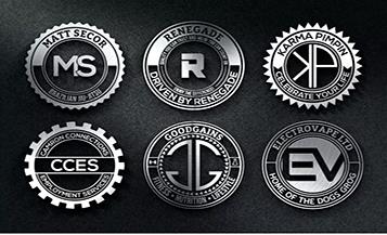 como criar logo badgets