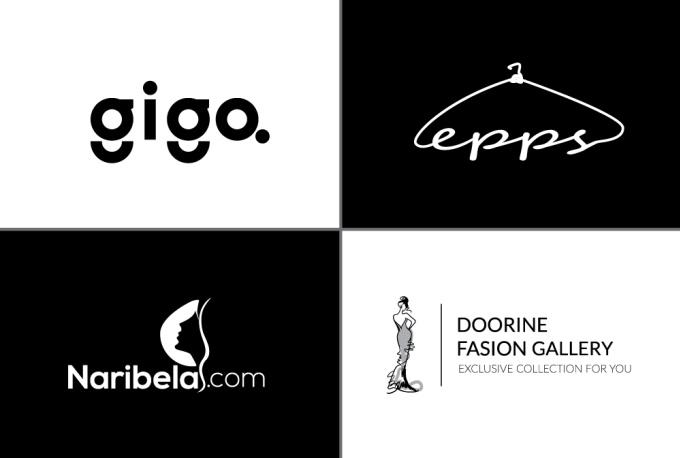 melhores design de logos preto e branco