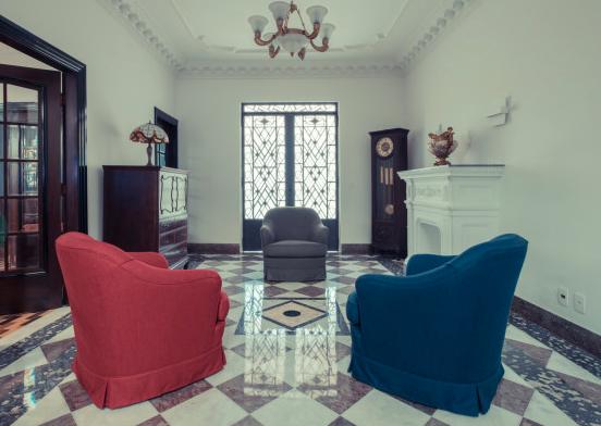 Espaço interno para receber clientes - estúdio fotográfico Namour