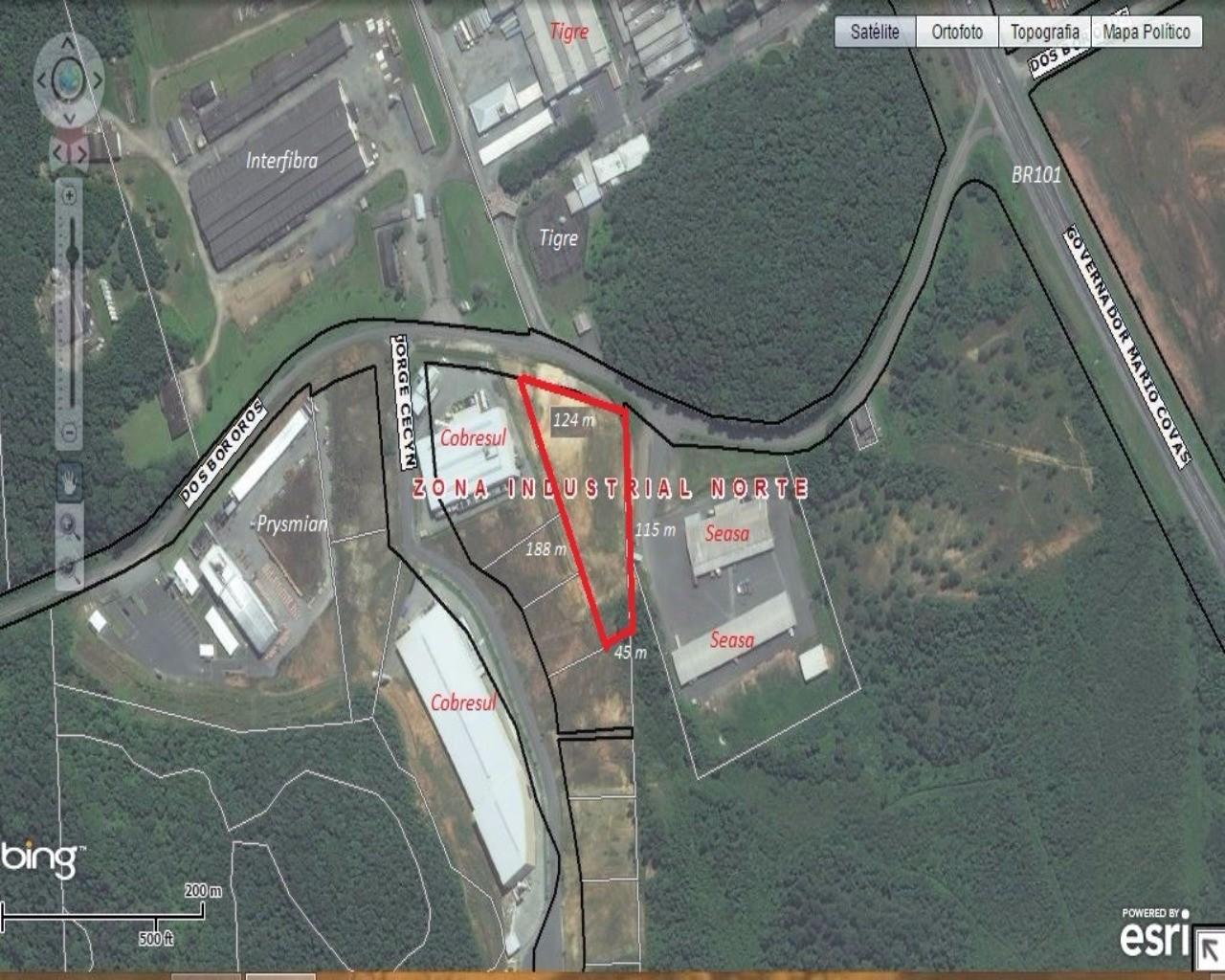 Terreno/Lote à venda  no Distrito Industrial - Joinville, SC. Imóveis