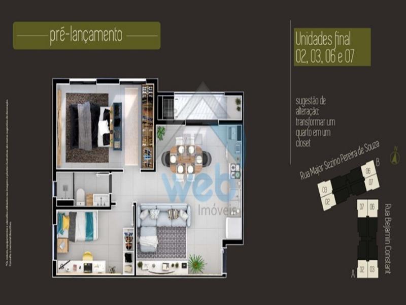 apartamento, Araucária, três quartos