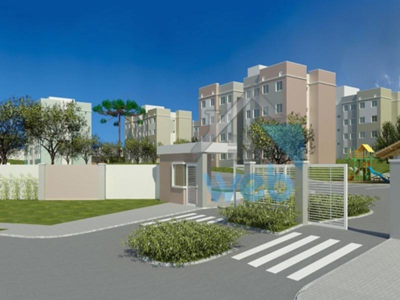 Residencial das Hortênsias - Ótima oportunidade para adquirir imóvel em construção, com 2 quartos, no bairro Tindiquera, em Araucária.