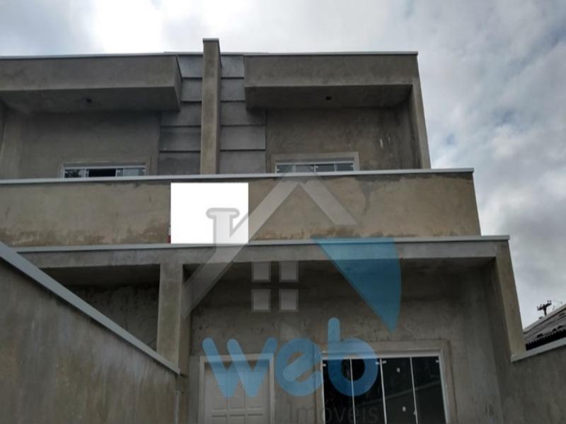 Sobrado novo no Bairro Sitio Cercado de Curitiba, podendo ser financiado no MCMV