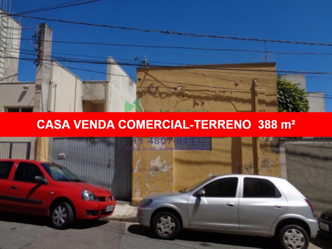 Casa com terreno de 388m² a VENDA  no centro de Jundiaí, zoneamento comercial na Rua da Padroeira. Casa com  124m² AC, terreno excelente com 8 x 48,5