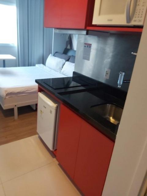 OPORTUNIDADE PARA INVESTIDOR Apartamento,  Kitnet,  22 m² , para VENDA - Accor Adagio Hotel, Av Nove de Julho, Jundiaí, Apart  Mobiliado,  Armários em