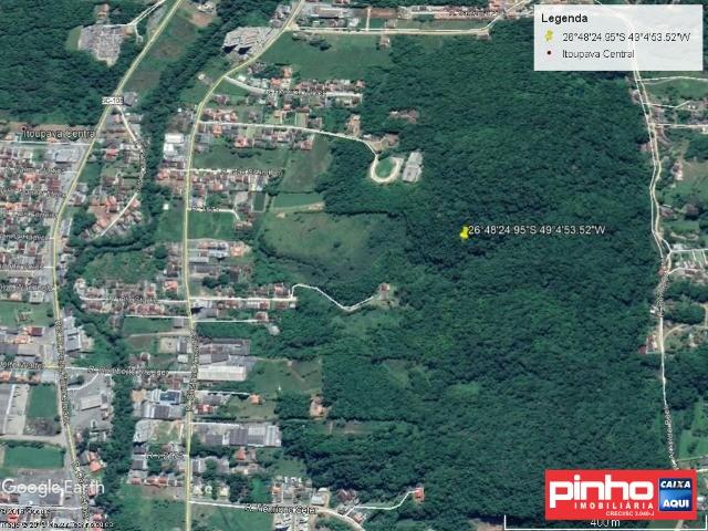 TERRENO/GLEBA com Área Total de 76.786,50m², VENDA DIRETA CAIXA, BAIRRO ITOUPAVA CENTRAL, BLUMENAU, SC