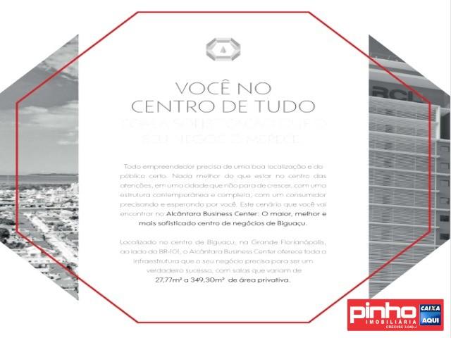 SALA COMERCIAL, ALCÂNTARA BUSINESS CENTER, VENDE, BAIRRO CENTRO, BIGUAÇU, SC