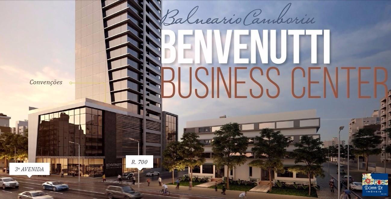 SALA COMERCIAL COM SACADA - EXCELENTE LOCALIZAÇÃO NO CENTRO - BENVENUTTI BUSINESS CENTER