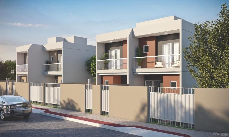 Nova Carapina, Casa duplex 2 quartos excelente acabamento sol da manhã excelente acabamento