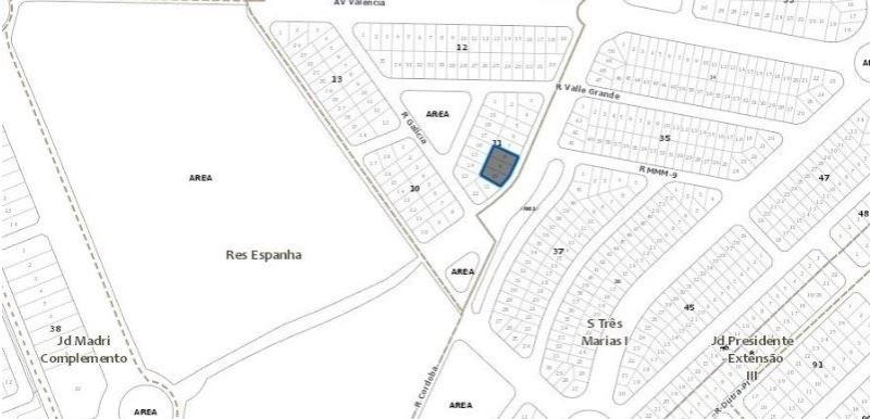 Vendo lote área no Setor três Marias em Goiânia ON LINE 62. 999.459.921