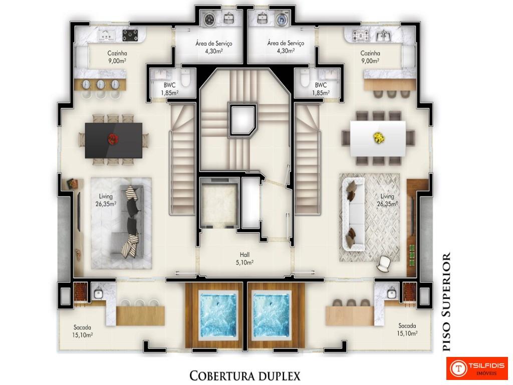 Vende-se apartamentos novos em Itapema - SC, com 2 e 3 suítes, venha conhecer.