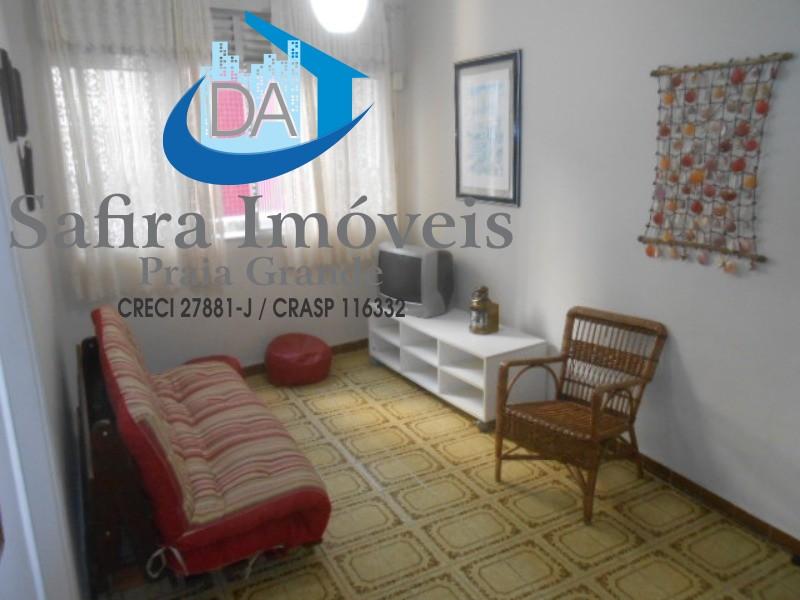 Apartamento no Canto do Forte, 01 Dormitório com vaga menos de 100 metros da praia