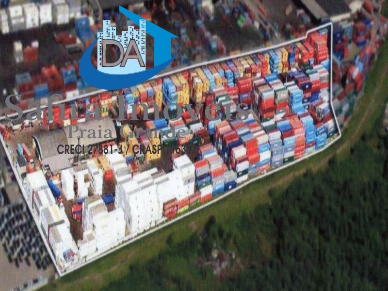 Área em Santos- Alemoa total de 34.778 m² , área não atinge a faixa molhada Santos SP.