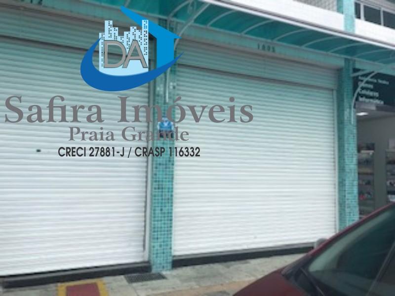 loja comercial para locação no Boqueirão com 96 m² de área util, Safira Imoveis Praia Gande