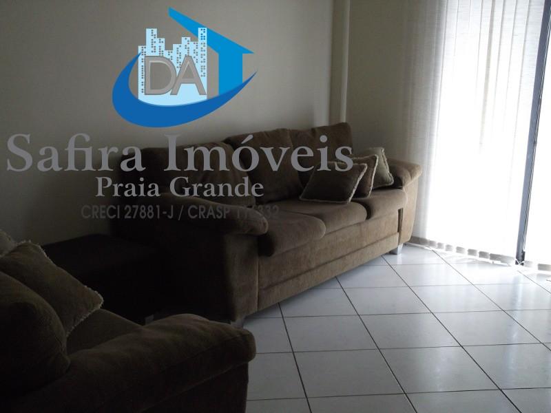 Apartamento de 01 dormitório 60 m² com sacada  , garagem   e piscina na Guilhermina Praia Grande SP