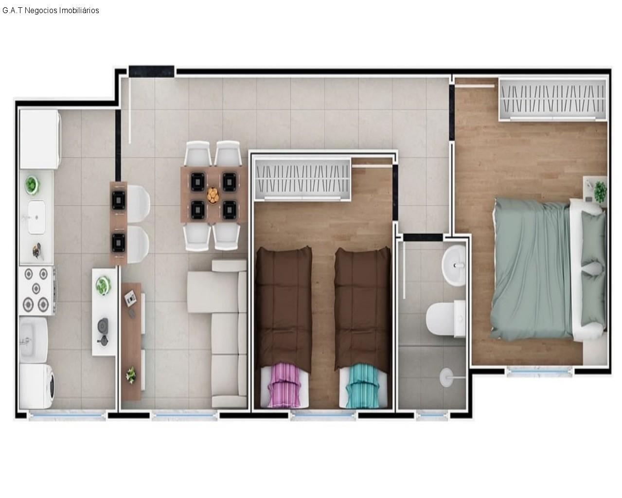 Apartamento com 2 Quartos,edifÍcio star, Sorocaba