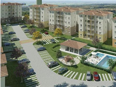 Apartamento de 2 dormitórios em Parque Euclides Miranda, Sumare - SP