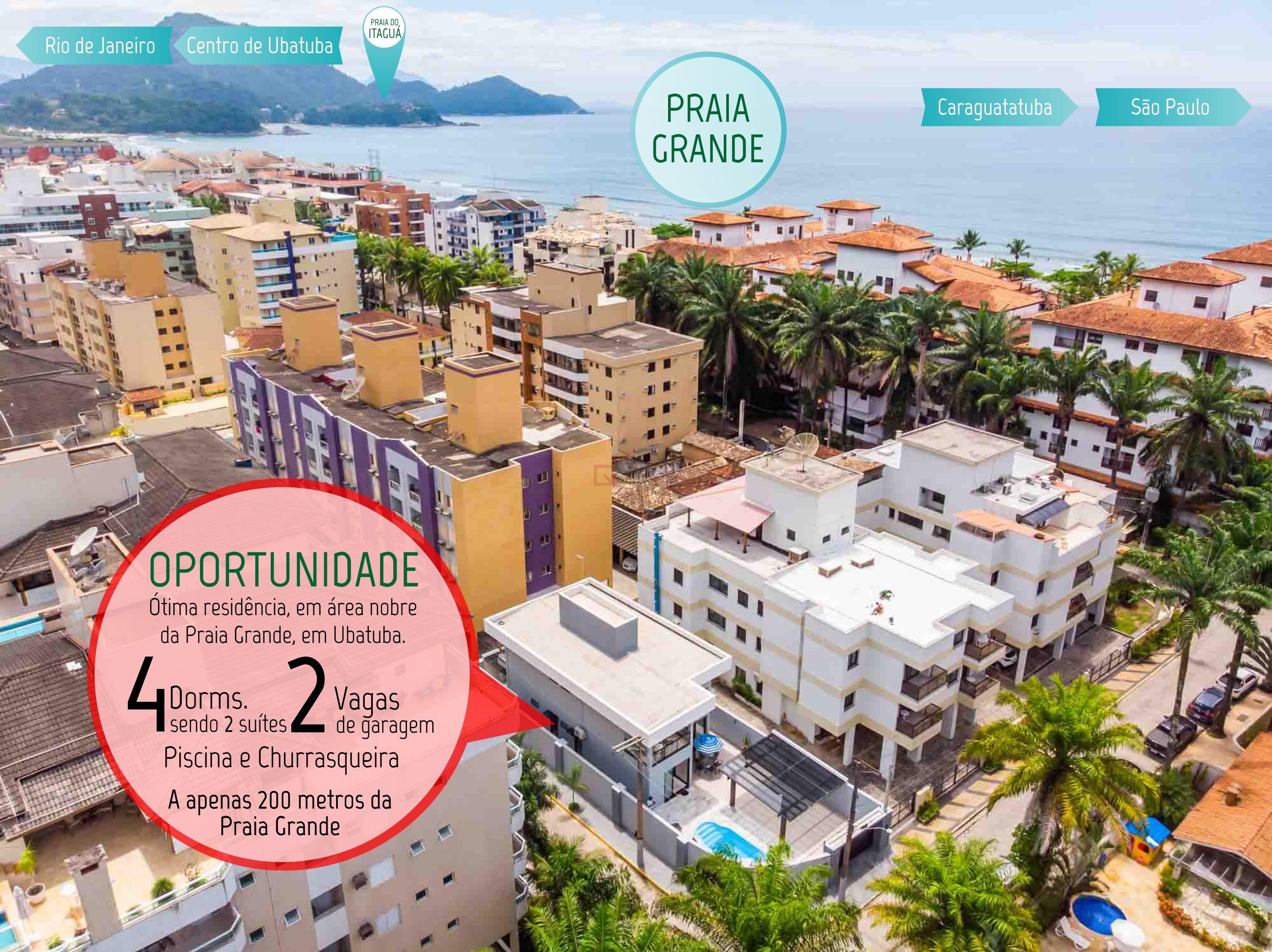 Casa com 4 dormitórios (2 suítes) à venda em Ubatuba, no bairro Praia Grande