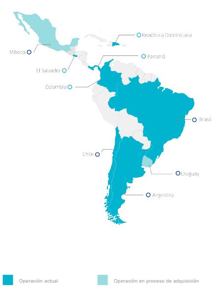 Mapa nosotros