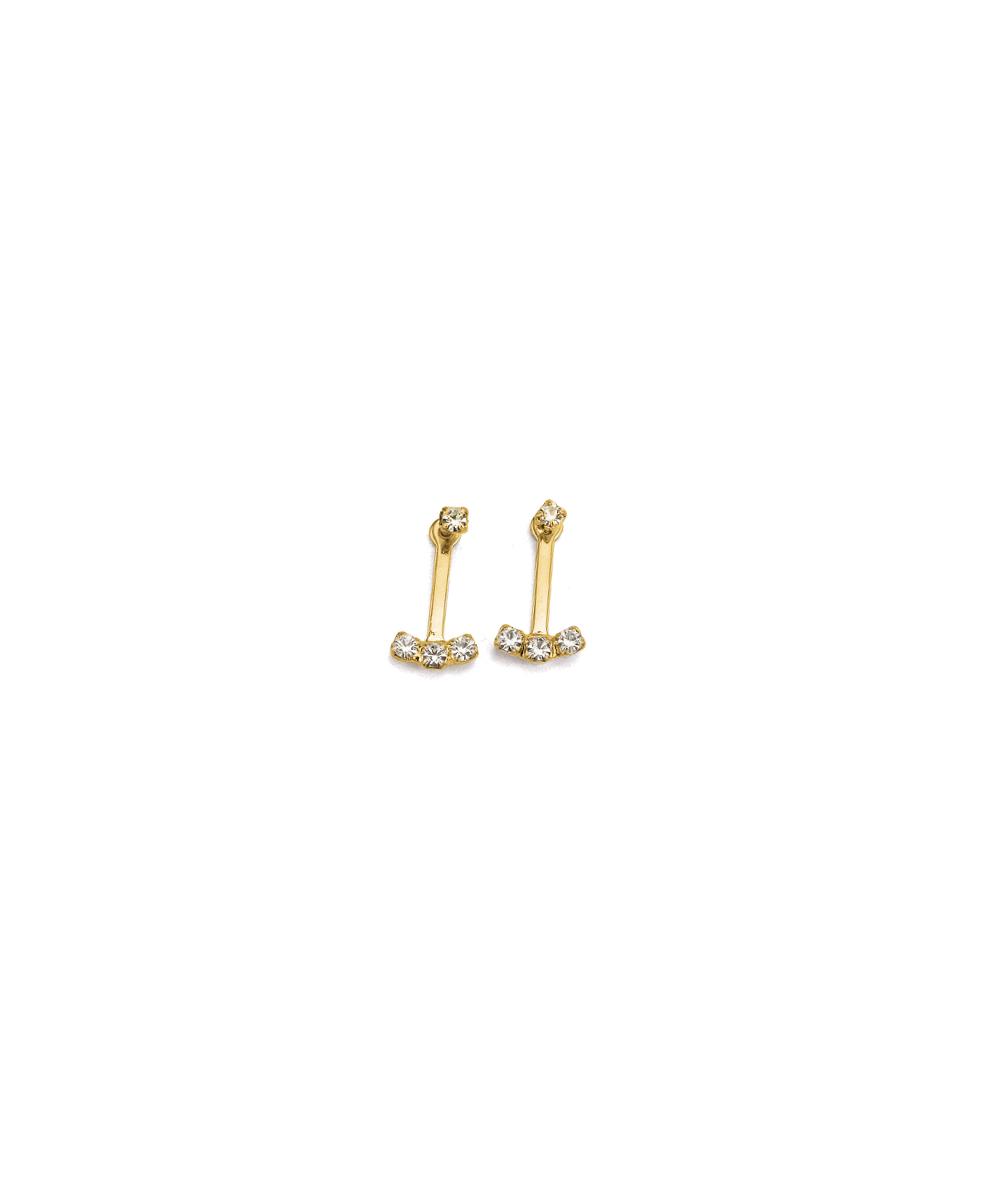 9b2a41c695ec4 Hiroshima – Brincos Laura Folheados a ouro com strass