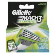 Carga para Aparelho de Barbear Gillette Mach3 Sensitive c/2