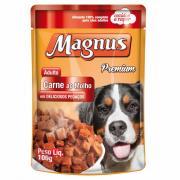 Alimento para Cães Magnus Premium Carne ao Molho Sachê 100g