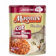 Alimento para Gatos Magnus Cat Premium Carne ao Molho 85g